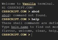 Cross-platform Terminal Emulator In Vanilla JavaScript - vanilla-terminal