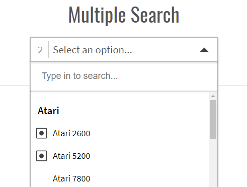 Powerful Single & Multiple Select Library - tail select