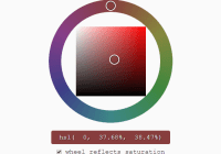 Mobile-friendly HSV HSL Color Picker - Reinvented Color Wheel