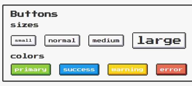 NES.css Buttons