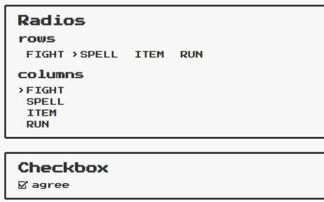 NES.css Checkbox & Radio Button