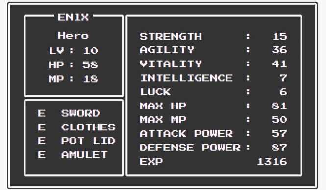NES.css Quest-status
