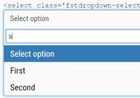 Bootstrap Style Searchable Dropdown Plugin - fstdropdown
