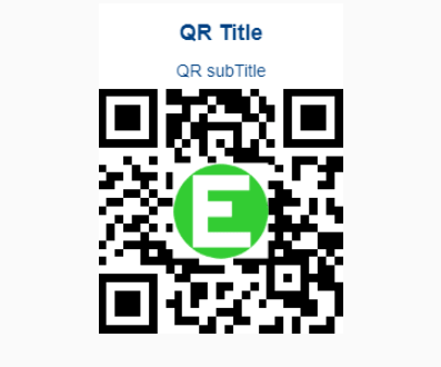QR Code Generator With Logo And Title Support - EasyQRCodeJS