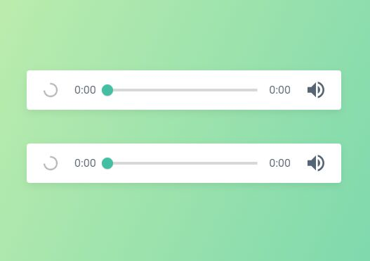 Minimal Clean HTML5 Audio Player With Custom Controls – Green Audio Player