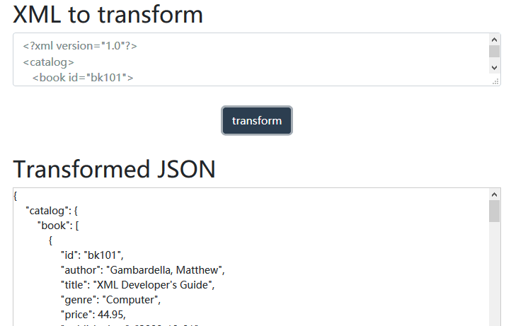 convert xml to json online free