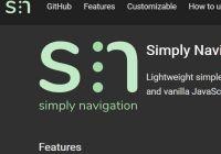 Responsive Navigation Bar With Flexbox And JavaScript - simply-nav