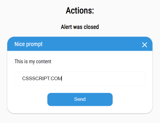 Custom Alert/Confirm/Prompt Popup Box JavaScript Library – attention.js