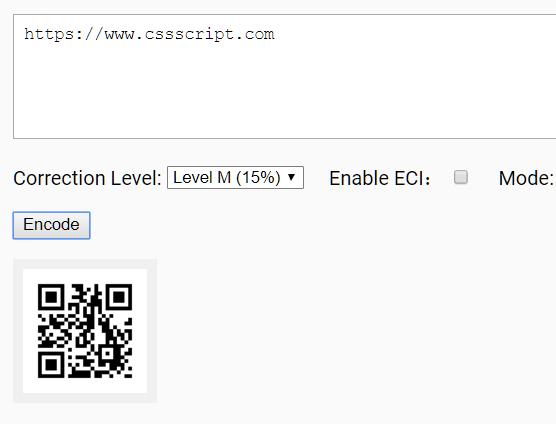 Decoding/Encoding QR Code With Pure JavaScript