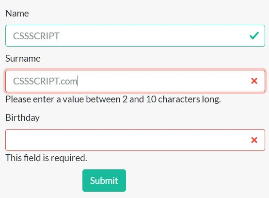Easy Fast Form Validation Library – Wellidate