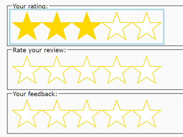 Accessible Star Rating Control Using Radio Buttons