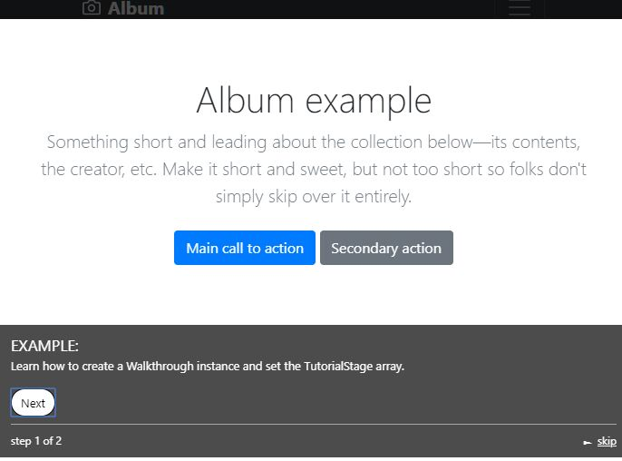 Create Guided Tours For Tutorials & New Features – Walkthrough.js