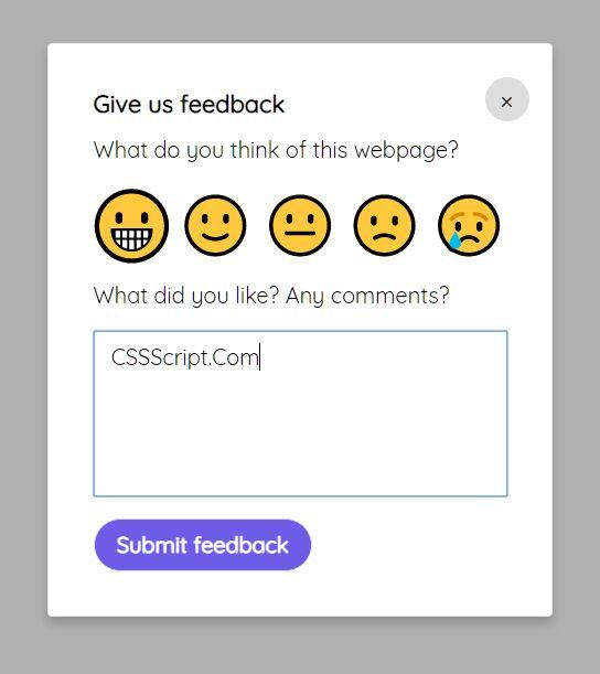 Custom Feedback Widget In JavaScript – Feeedback