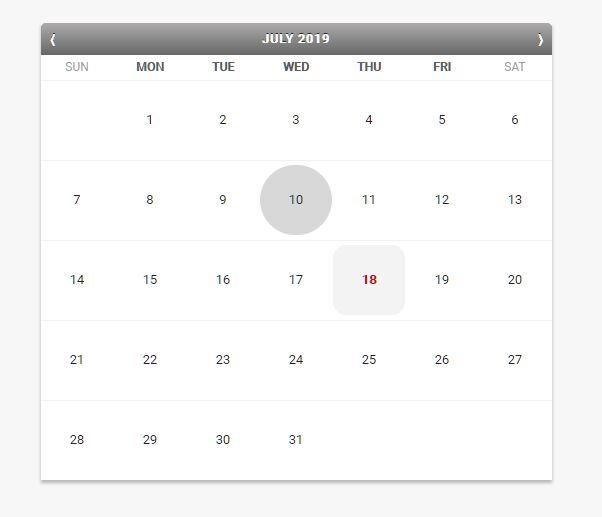 iPhone Style Calendar In Native JavaScript  – iCalendar