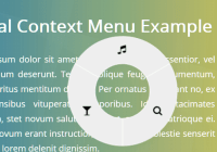 Touch-enabled Radial Context Menu In Pure JavaScript - radialMenu