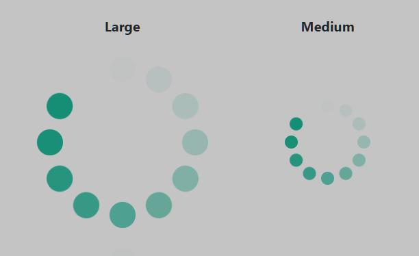 Loading-Visualization Circles