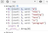 Word Density Counter In Vanilla JavaScript - density.js