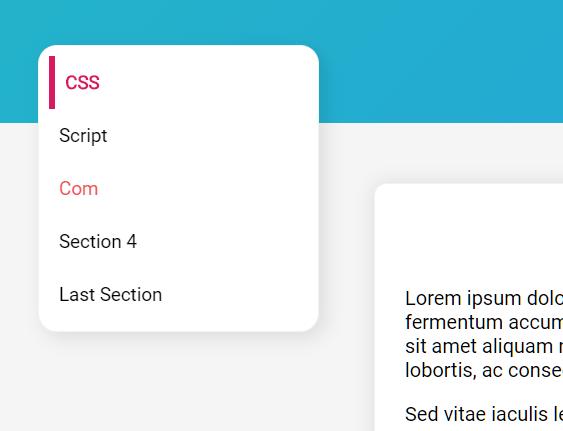 Update Navigation Items Based On Scroll Position – ScrollSpy.js