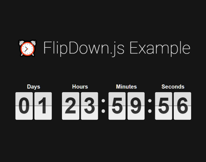 Retro Flipping Countdown Timer In JavaScript - flipdown.js