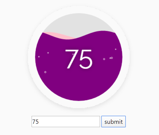 Liquid Progress Indicator With JavaScript And Canvas – fluid-meter.js