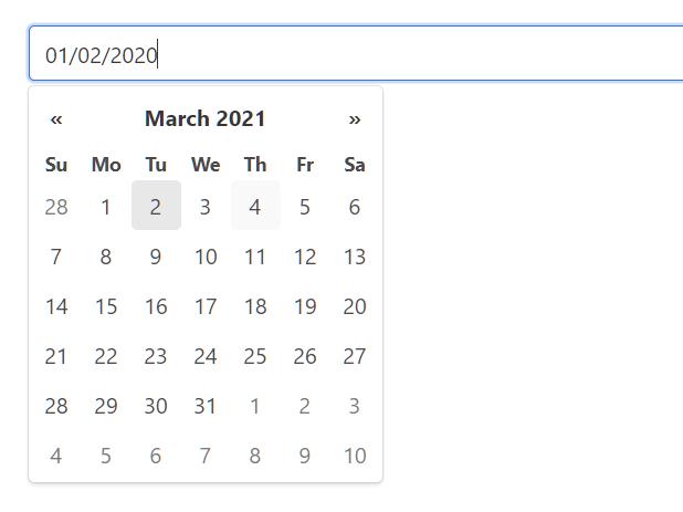 Vanilla JavaScript Date & Date Range Picker For The Web