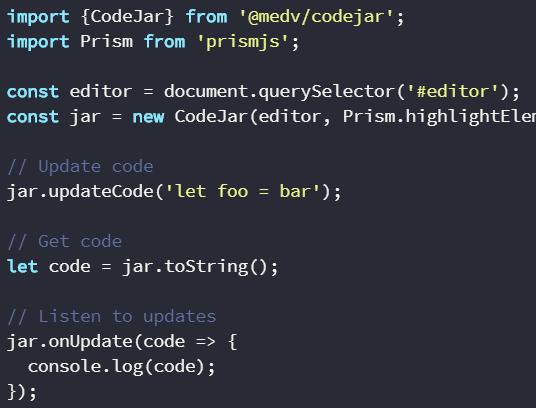 Cross-browser Code Editor For Browser – codejar