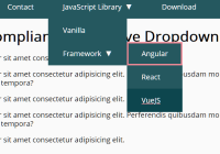 WCAG Compliant Responsive Dropdown Navigation - accessible-menu
