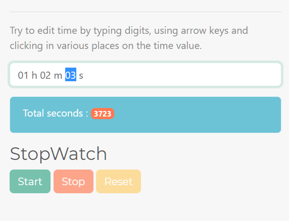 Tiny JavaScript Library For Selecting Duration – DurationPickerMaker