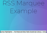Display RSS Feeds As A Horizontal Scroller - rss-marquee