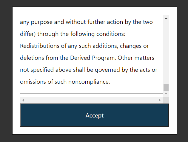 Terms And Conditions Scroll Box In JavaScript – scroll-to-accept.js