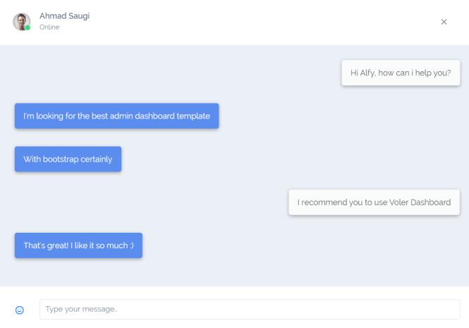 Voler Admin Dashboard Chat Box