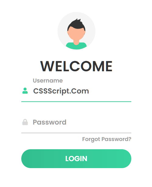 Responsive Beautiful Login Page Template Mobile View
