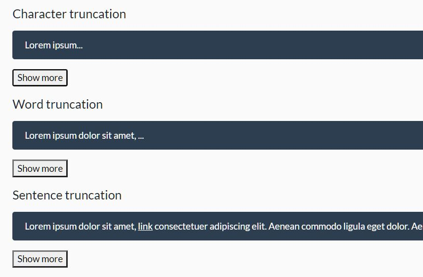 Multiline Text Truncator In Vanilla JavaScript – Cuttr.js
