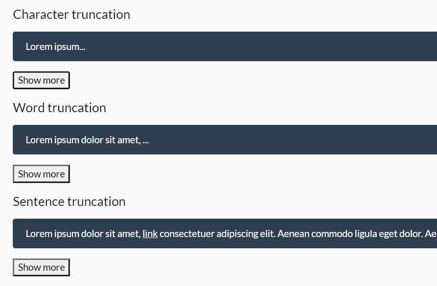 Multiline Text Truncator In Vanilla JavaScript – Cuttr.js
