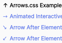 Animated Directional Arrows In CSS - Arrows.css