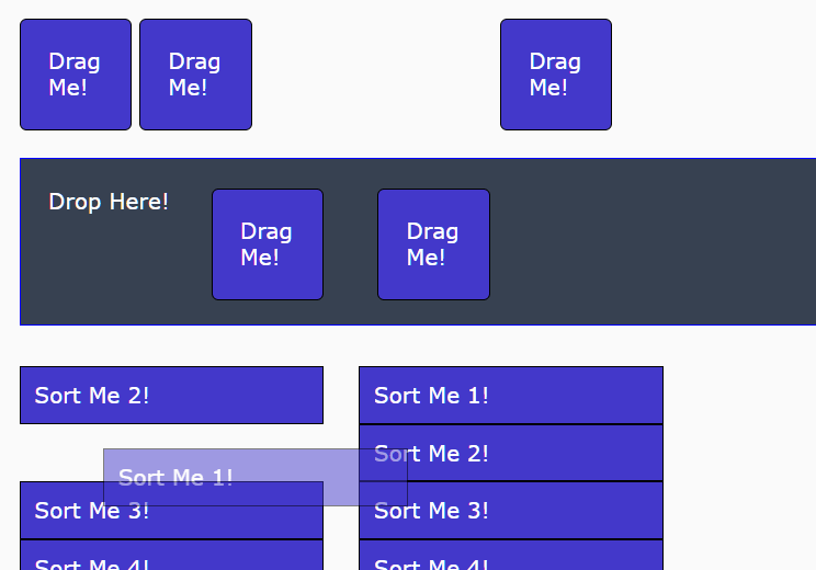Draggable/Droppable/Sortable Components In Vanilla JavaScript – Agnostic Draggable