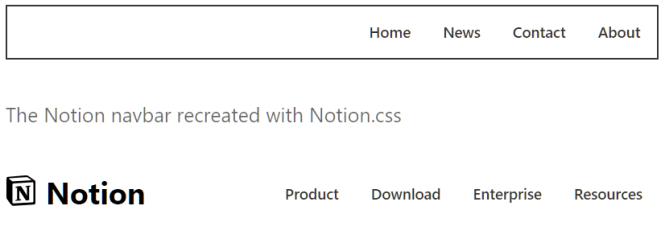 notion.css Nav