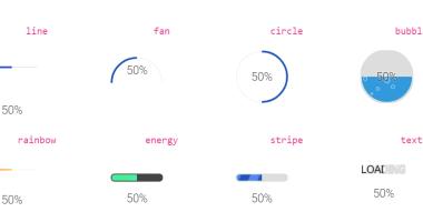 Flexible Progress Bar Using SVG And Plain JavaScript - loading-Bar