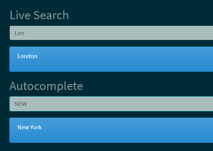 Show & Hide Content Based On Input – light-search-js