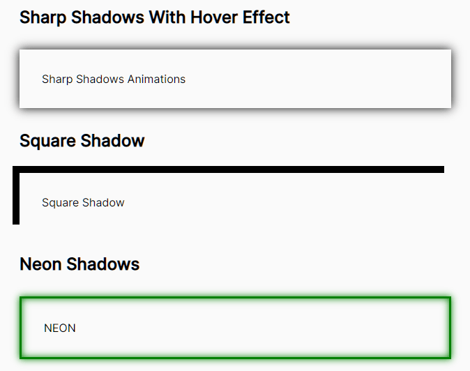 Interactive Box & Text Shadow Library – ShadowCSS