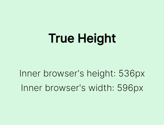 Set The Element Height To The Interior Height Of The Window – true-height.js