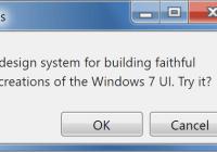 Windows 7 CSS Framework - 7.css