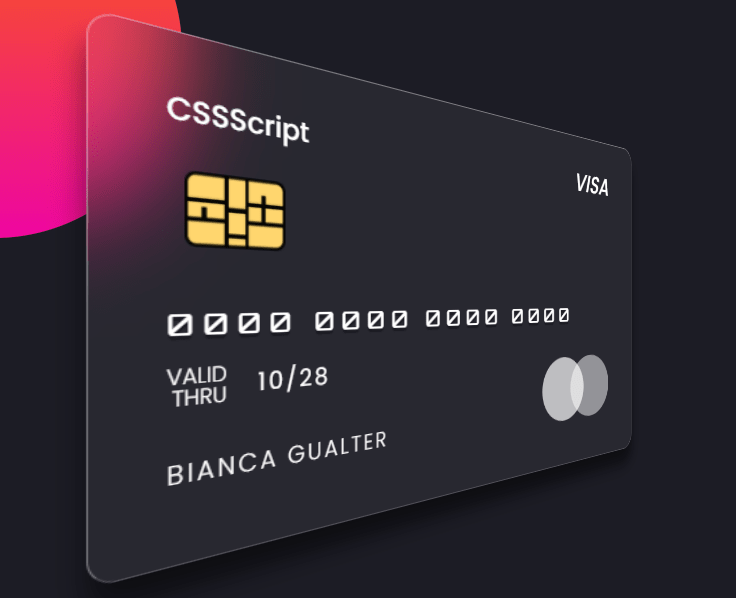 Glassmorphism Debit/Credit Card In Pure CSS