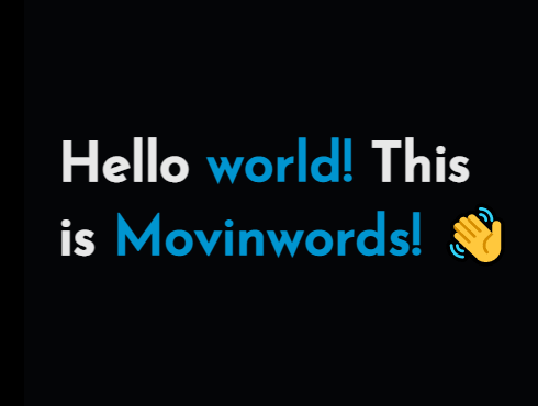 Animate Text Word By Word – movinwords.js