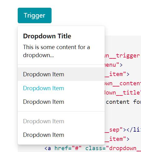 vrembem Dropdown