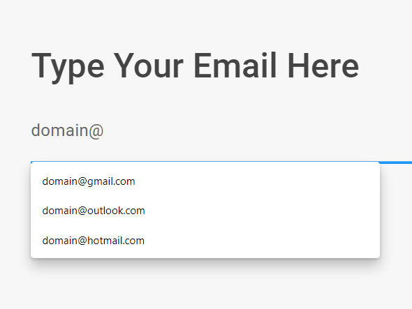Email Domain Name Autocomplete In JavaScript – Email Genie