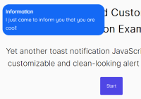 Clean And Customizable Toast Notification Library - Toaster