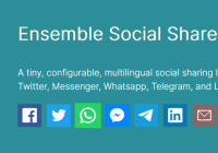 Social Sharing Libraray For Popular Social Networks - Ensemble SocialShare