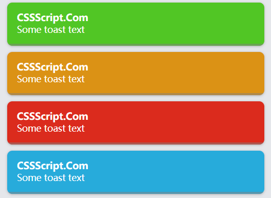 Easy JS Library For Toast Notifications – Toasting
