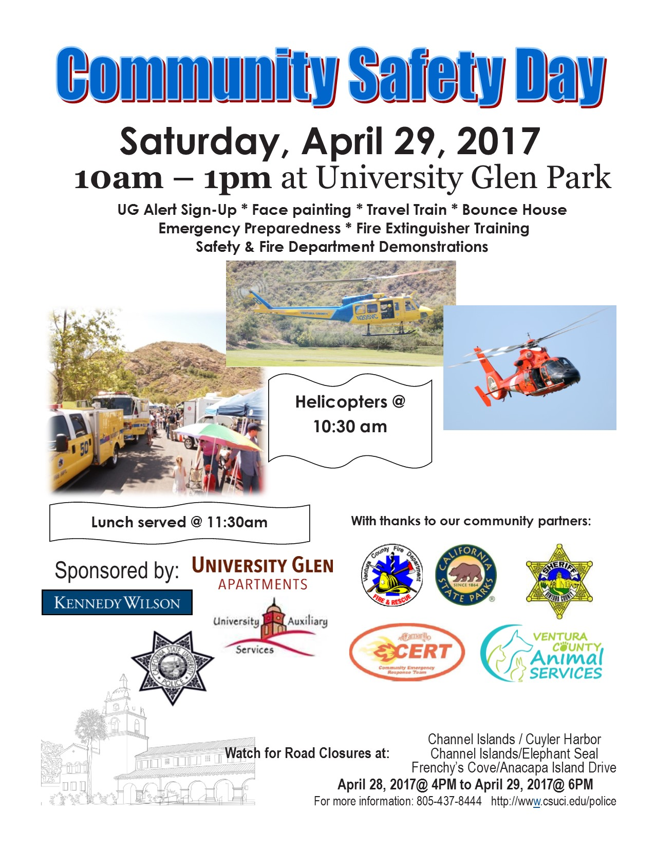 Community Safety Day April 29th Time 10am 1pm